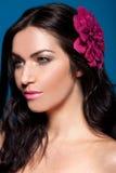 Belleza tropical Dark-haired Fotografía de archivo
