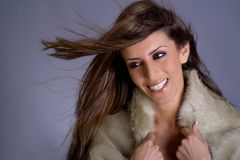 Belleza turca con el pelo largo Fotos de archivo libres de regalías