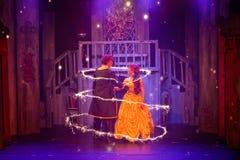 Belleza y el musical de la bestia Imagen de archivo libre de regalías