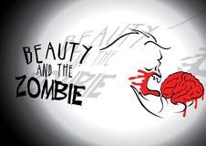 Belleza y el zombi. fotografía de archivo