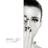 Belleza y maquillaje diseño de la plantilla fotografía de archivo