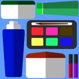 Belleza y sistema del plano del maquillaje Imagenes de archivo