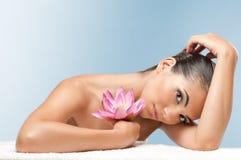 Belleza y tratamiento del balneario Foto de archivo libre de regalías
