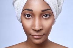 Bellezza africana della donna fotografie stock