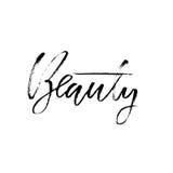 bellezza Asciughi la frase motivazionale di calligrafia della spazzola Iscrizione scritta a mano nello stile di boho per la stamp Immagini Stock Libere da Diritti