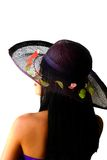 Bellezza asiatica con il cappello di paglia Fotografie Stock