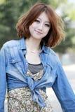 Bellezza asiatica esterna Fotografia Stock