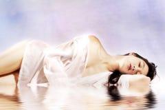Bellezza bagnata Fotografia Stock
