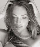 Bellezza in bianco e nero Fotografia Stock