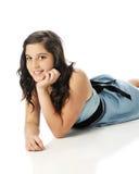 Bellezza in blu Fotografie Stock Libere da Diritti