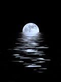Bellezza blu di luce della luna Fotografia Stock
