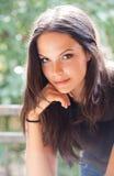 Bellezza castana. Fotografia Stock Libera da Diritti