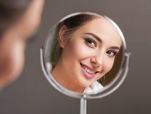 Bellezza castana dei cosmetici Fotografia Stock Libera da Diritti