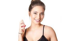 Bellezza castana dei cosmetici Immagini Stock Libere da Diritti