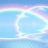 Bellezza celestiale del Rainbow Fotografia Stock