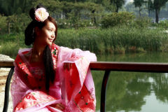 Bellezza classica in Cina. Immagine Stock