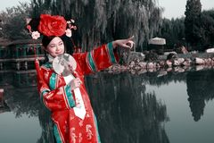Bellezza classica in Cina. Fotografia Stock