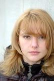 Bellezza con capelli marrone chiaro Immagini Stock Libere da Diritti