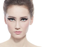 Bellezza con l'eye-liner Immagine Stock Libera da Diritti
