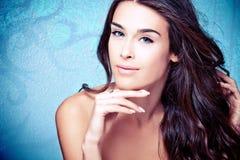Bellezza degli occhi azzurri fotografie stock libere da diritti