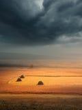Bellezza dei cambiamenti del tempo prima della tempesta Fotografie Stock Libere da Diritti
