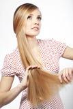 Bellezza dei capelli fotografia stock libera da diritti