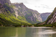 Bellezza dei fiordi Fotografie Stock Libere da Diritti