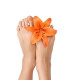 Bellezza dei piedini immagini stock libere da diritti