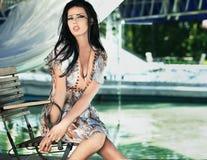 Bellezza del Brunette fotografia stock libera da diritti