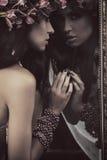Bellezza del Brunette Immagine Stock
