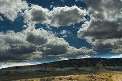 Bellezza del deserto e delle nuvole Fotografia Stock Libera da Diritti