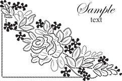 Bellezza del fiore del pizzo dell'ornamento Immagini Stock Libere da Diritti
