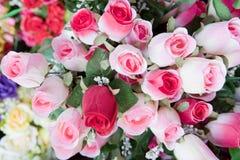 Bellezza del fiore di rosa del mazzo di colore rosa Immagine Stock