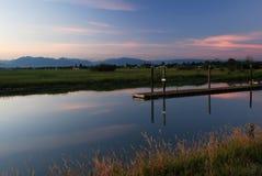Bellezza del flusso al tramonto Fotografia Stock Libera da Diritti