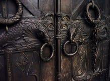 bellezza del primo piano del dettaglio del metallo della porta Immagine Stock