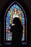 Bellezza del vetro macchiato Fotografia Stock Libera da Diritti