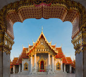 Bellezza della chiamata tailandese Wat Ben del tempio o del tempio del marmo Fotografia Stock