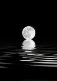 Bellezza della luna piena Fotografia Stock
