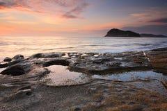 Bellezza della spiaggia della perla, Australia Fotografia Stock