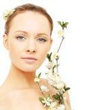 Bellezza della stazione termale - donna Immagini Stock