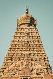 Bellezza della torre del tempio a piena vista - grande tempio di Thanjavur fotografie stock