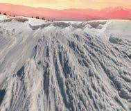 Bellezza delle montagne di inverno Fotografie Stock