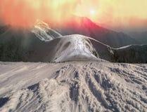 Bellezza delle montagne di inverno Fotografia Stock