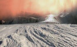 Bellezza delle montagne di inverno Fotografia Stock Libera da Diritti