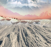 Bellezza delle montagne di inverno Fotografie Stock Libere da Diritti