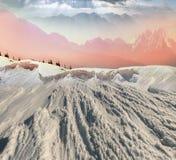 Bellezza delle montagne di inverno Immagini Stock Libere da Diritti
