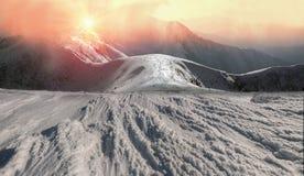 Bellezza delle montagne di inverno Immagine Stock Libera da Diritti