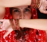 Bellezza di Dancing con il velare Fotografia Stock