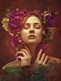 Bellezza di Ethno Bella giovane donna Fotografia Stock