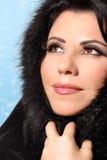 Bellezza di inverno della donna immagine stock libera da diritti